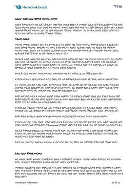 Tigirinja - Informasjon om jevnlig massetesting - til foresatte
