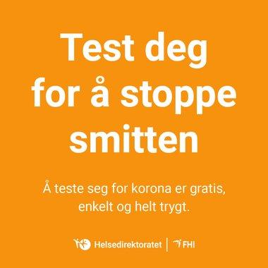 Test deg - kort